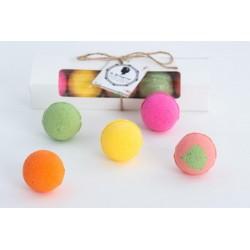 Kit 5 Bath Bombs Fruits - La Bourgeoise