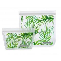 Ziptuck Reusable Snack Bag Duo Palmtree - Full Circle