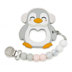 Gray Pinguin Teether set - LOULOU LOLLIPOP