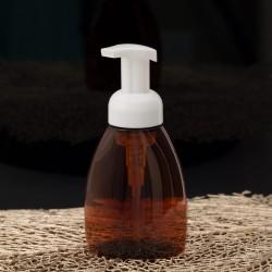 Amber Plastic Pump Bottle 250 ml / 8.4Oz - La Looma