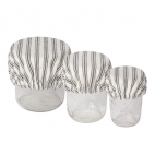 Set of 3 mini bowl covers stripe - Now Designs