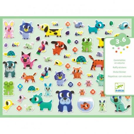My little friends volume stickers - DJECO