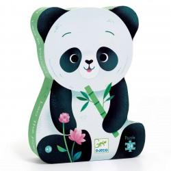 Puzzle silhouette Léo le Panda 24 morceaux - Djeco Djeco