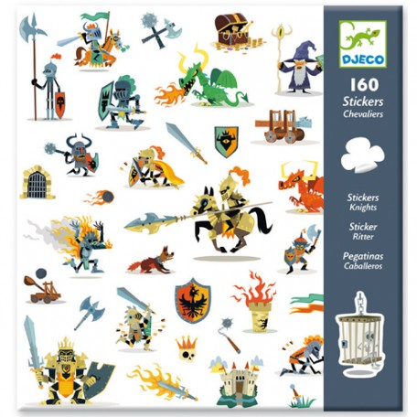 160 stickers Knights - Djeco