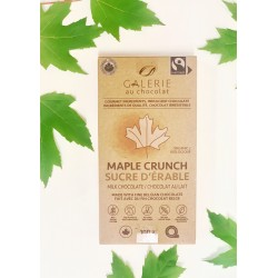 Milk Chocolate Maple Crunch 100g - Galeries au Chocolat