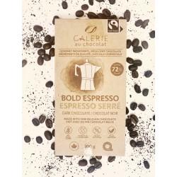 Espresso dark chocolate 100g - Galerie au chocolat