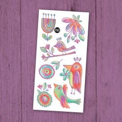 Temporary Tattoo Wonderful Birds - Pico