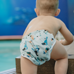Omaiki Swim Diaper - Whales