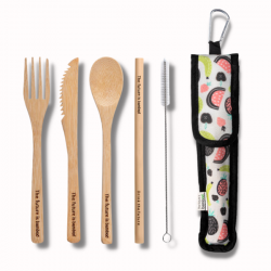 Bamboo Ustensils Kit Summer fruits - THE FUTURE IS BAMBOO