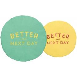 Ensemble de 2 Couvre-bols Better the next day - Now Designs Now Designs